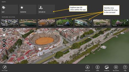 Microsoft actualiza las aplicaciones de mapas de Bing para Windows 8 con nuevas funcionalidades y más ciudades