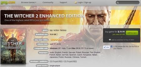 GOG desembarca en Mac con cincuenta juegos, veintiocho de los cuales llegan por primera vez a esta plataforma