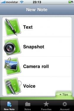 Evernote, actualizada en el iPhone.