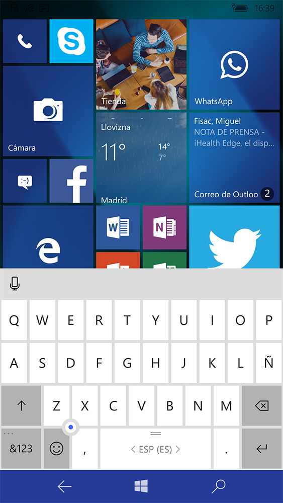 Foto de Continuum en Windows 10 Mobile (26/37)
