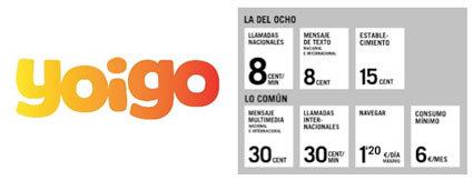 Novedades en Yoigo: nueva tarifa a 8 céntimos, Programa Renuevo y aumento de la velocidad de Internet