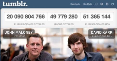 Tumblr llega a los 20 mil millones de mensajes