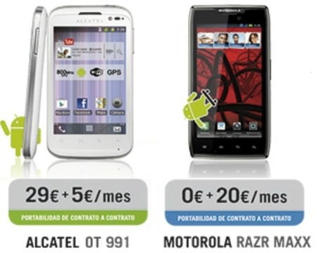 Precios Motorola Razr Maxx con Yoigo