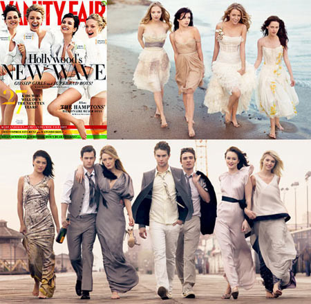 Los chicos de Gossip Girl en Vanity Fair Youth Edition