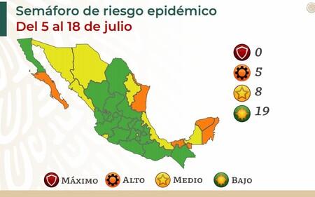 Mexico Se Congela En El Semaforo Por Covid En La Nueva Actualizacion Todo El Pais Queda Exactamente Igual