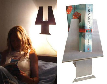 Lámpara estantería para leer antes de dormir