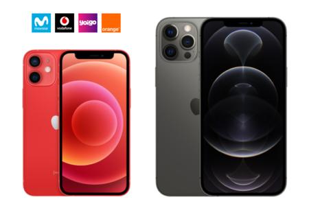 Dónde comprar iPhone 12 Mini y iPhone 12 Pro Max más baratos: comparativa ofertas con Movistar, Vodafone, Orange y Yoigo
