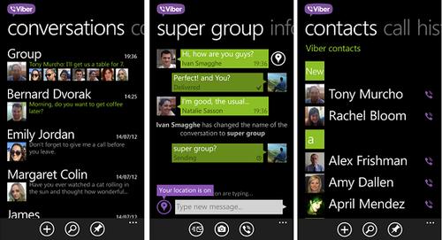 Viber,llamadasymensajesgratuitosentuWindowsPhone