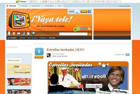 Actualizamos ¡Vaya Tele! con mejoras en los compartidos de Facebook, comentarios y nuevas pestañas