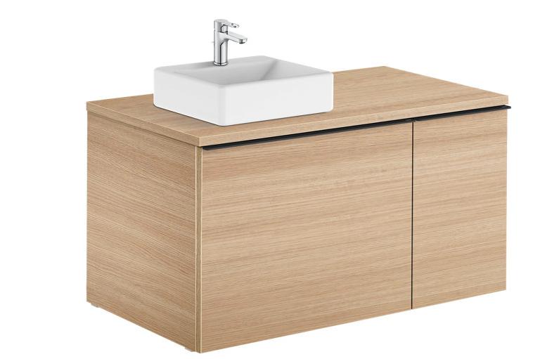 Mueble baño Adonis roble 90 x 49 cm