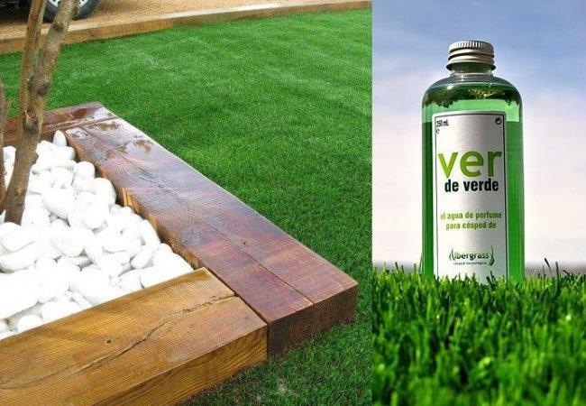 Ver de verde perfume para c sped artificial - Como se pone cesped artificial ...