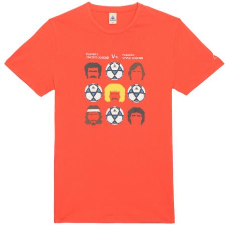 camiseta roja futbol lecoq