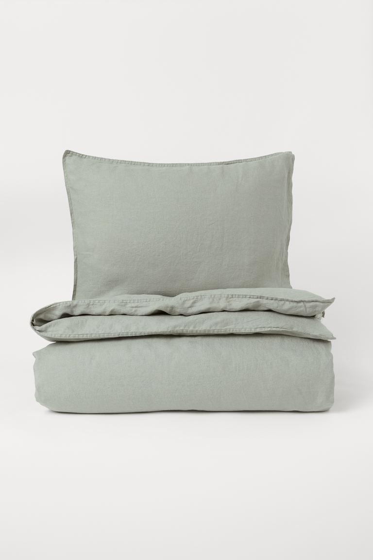 Funda nórdica en lino lavado