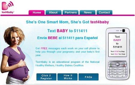 Text4baby, servicio gratuito de SMS para embarazadas en Estados Unidos
