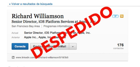 Apple despide a Richard Williamson, responsable directo de los mapas de Apple
