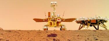 China muestra nuevas imágenes de Marte tomadas por su rover Zhurong: el vehículo ya busca signos de vida en el planeta rojo