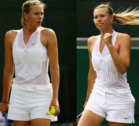El nuevo look de María Sharapova en Wimbledon