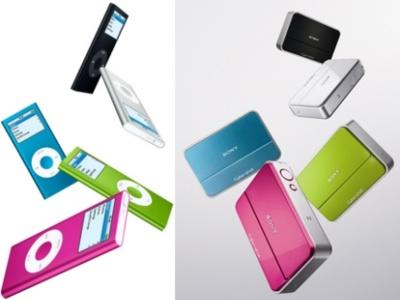 Sony plagia un anuncio de los iPod Nano en sus DSC-T2
