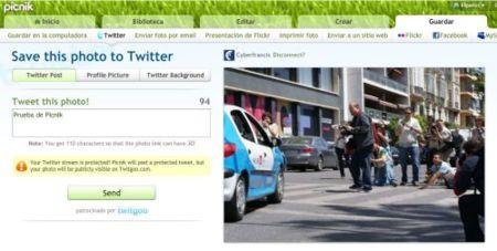 TwitGoo, TwitnGo, TwitrPix, y también Picnik, más opciones para publicar imágenes en Twitter