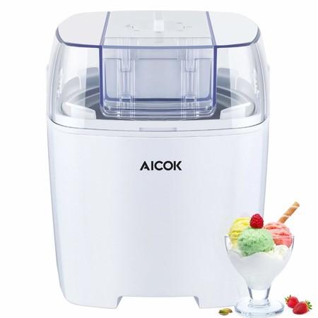 Cupón de descuento de 13,33 euros en la heladera Aicok: hasta 1,5 litros de helado por 29,66 euros en Amazon
