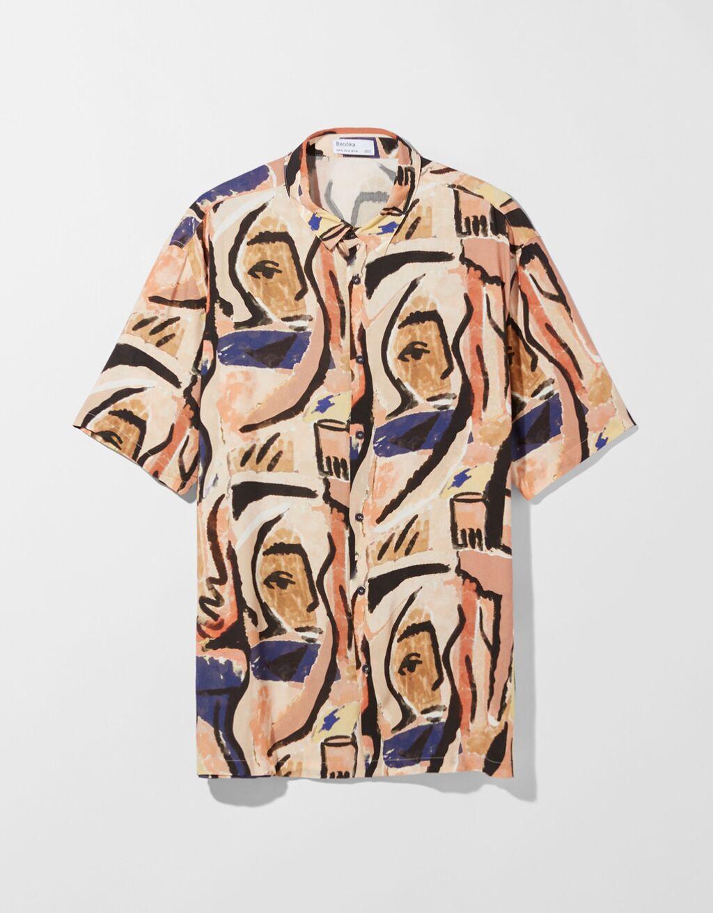 Camisa manga corta print arte