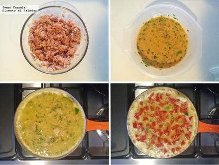 Preparacion Frittata De Atun Con Jitomate