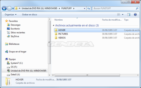 Contenido disco Windows 95