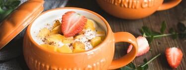 Siete piezas de menaje de cocina y mesa, con forma de calabaza, ideales para recibir el otoño