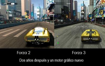 'Forza Motorsport 3' vs 'Forza Motorsport 2'. ¿Veis los cambios?