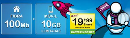 SUOP rebaja a la mitad sus combinados de fibra y móvil para nuevos clientes: seis primeros meses desde 17,50 euros al mes