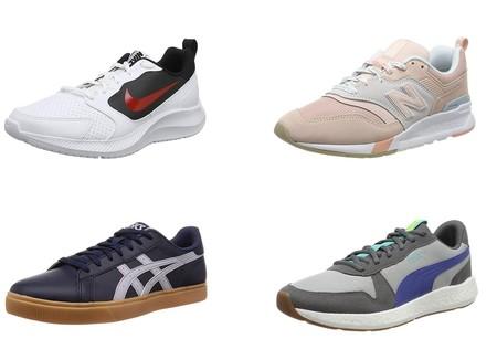 Ofertas en tallas sueltas en las zapatillas Nike Todos, Asics Classic CT y New Balance 997h en Amazon