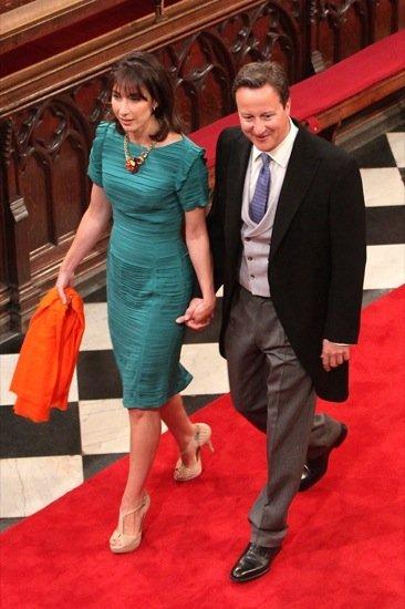 Contraste de looks entre las mujeres de David Cameron y Nick Clegg