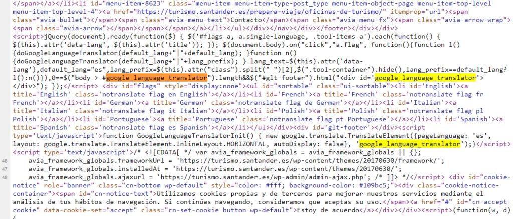 Referencias Google Translate Turismo Santander