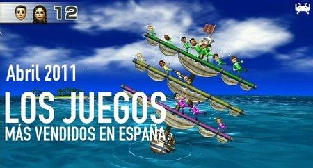 Los juegos más vendidos en España. Abril 2011
