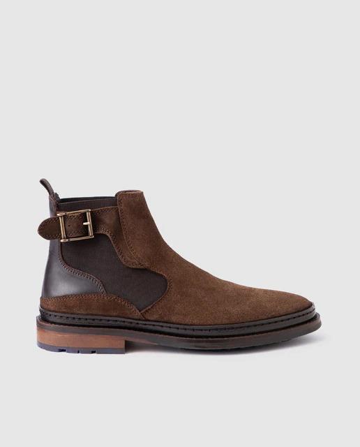 Botas de hombre Emidio Tucci tipo Chelsea en color marrón claro