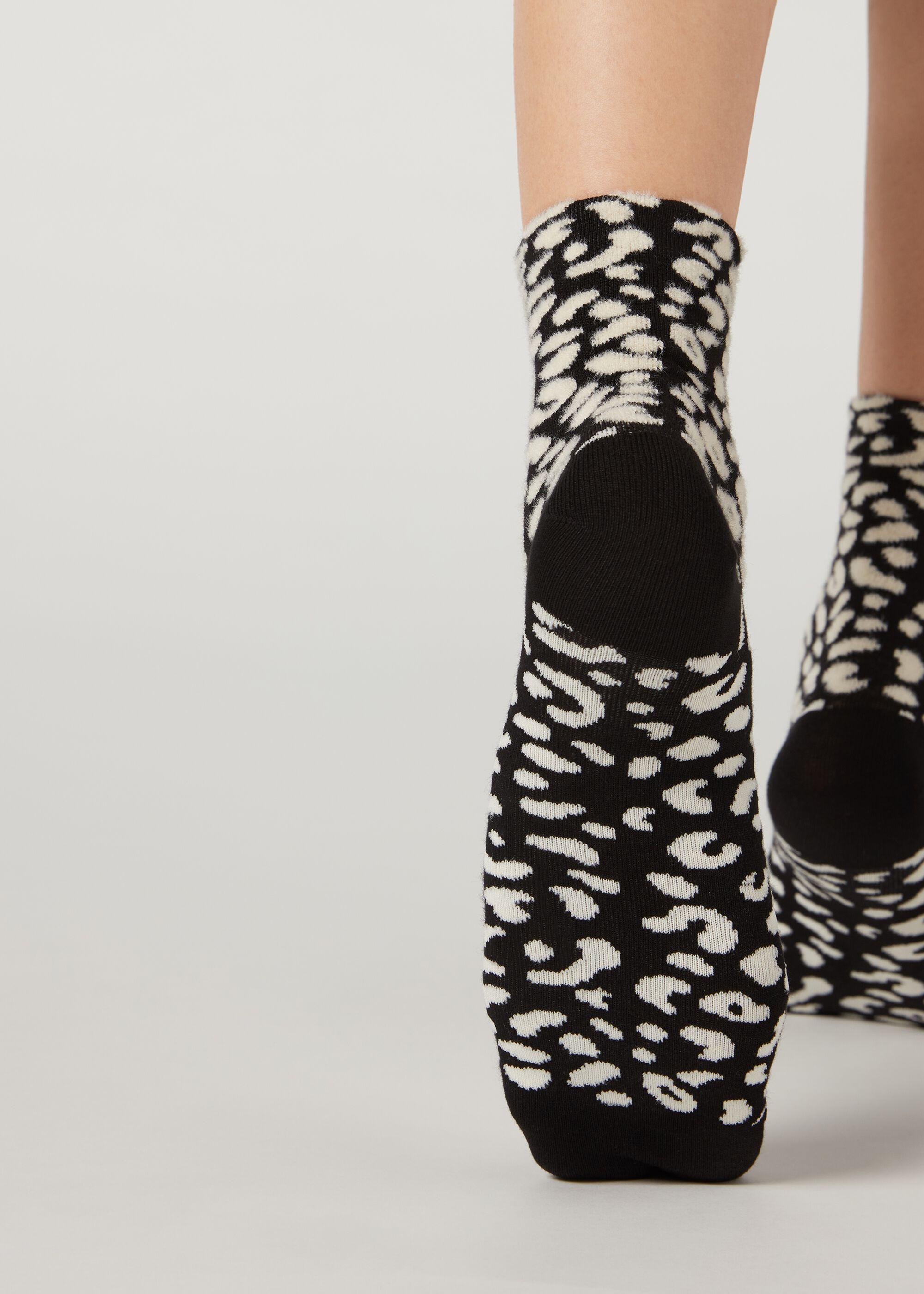 Calcetines Cortos con Estampado Animal
