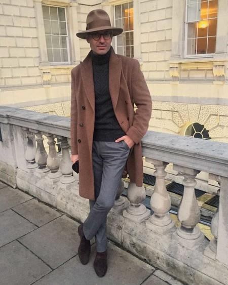 Los Hombres Mas Elegantes De Londres Le Hacen Frente Al Frio Con La Armadura Perfecta El Abrigo 09