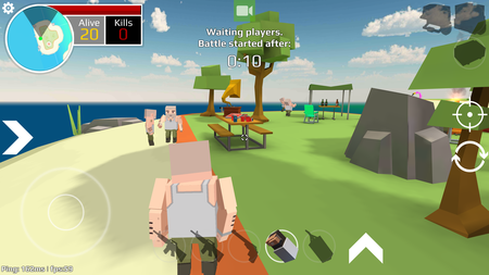 Players Unknown Battle Grand: el clon del PUBG para smartphones Android con gráficos de Minecraft