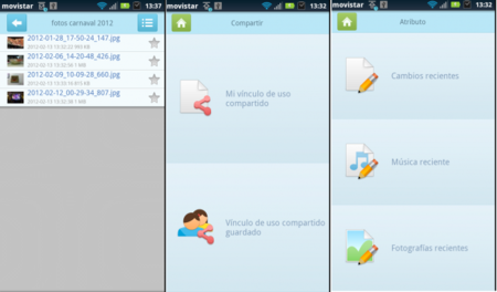 interfaz movil asus webstorage android