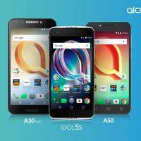 Idol 5S, A50 y A30 Plus, Alcatel renueva su catálogo con tres smartphones asequibles de gama media