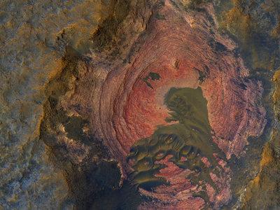 Marte como jamás lo habías visto: la surrealista geografía del planeta rojo, en 23 fotografías