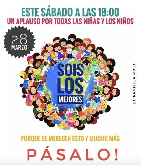 Hoy sábado, a las seis de la tarde, aplaudimos por nuestros niños: porque ellos también son héroes