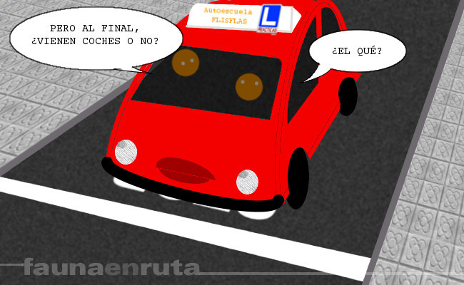 fauna en ruta: aprendizaje de la conducción