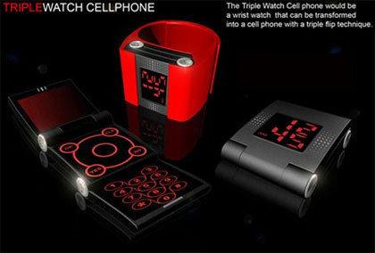Triple Watch, interesante móvil-reloj de pulsera