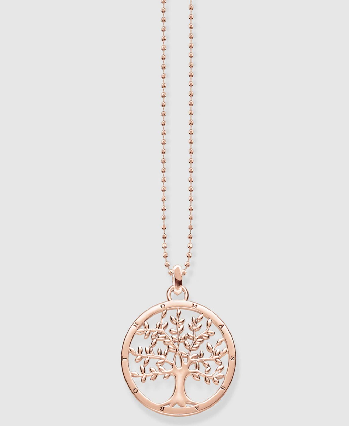 Collar Thomas Sabo Tree of Love de plata rosa