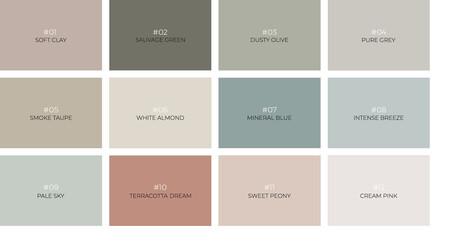 Paleta Colores Kenay Y Bruguer
