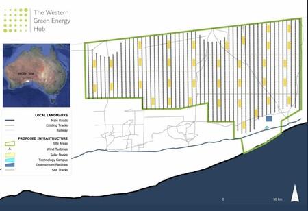 Plano De Ubicacion Del Western Green Energy Hub