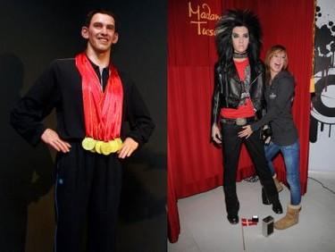 Michael Phelps y Bill Kaulitz son de cera