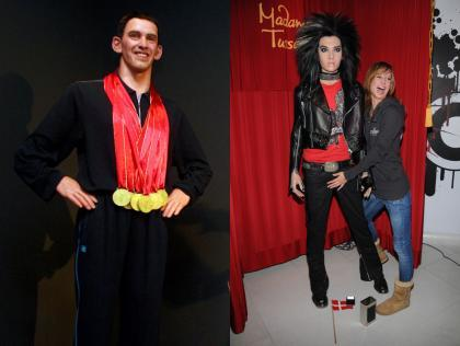 Michael Phelps y Bill Kaulitz son de cera
