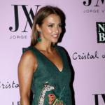 Paula Echevarría se convierte en la estrella de la fiesta de Jorge Vázquez con este vestido verde con jirafa incluida